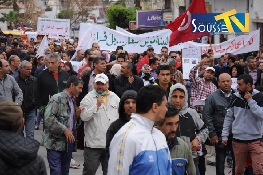 07 mai 2016 : Manifestation contre la pollution de l'usine de briques