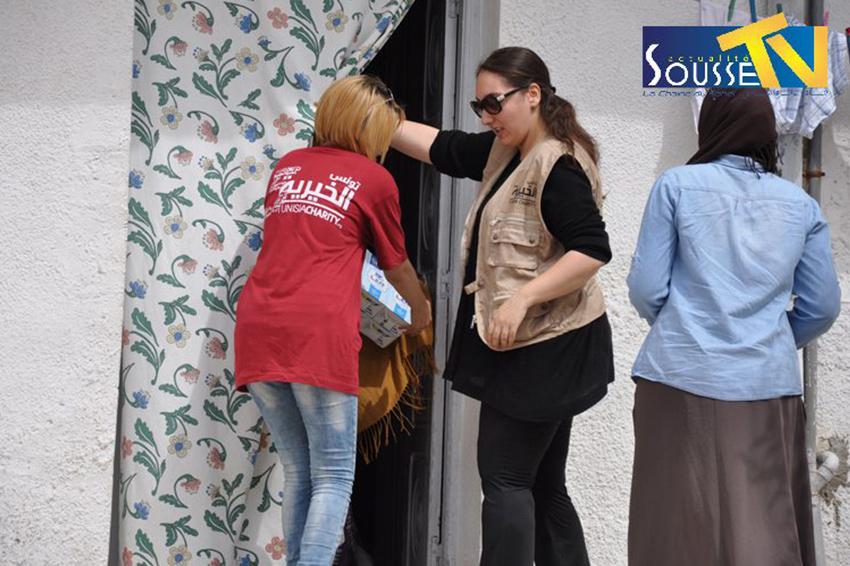 12 جوان 2016: جمعية تونس الخيرية : حملة توزيع اعانات غذائية