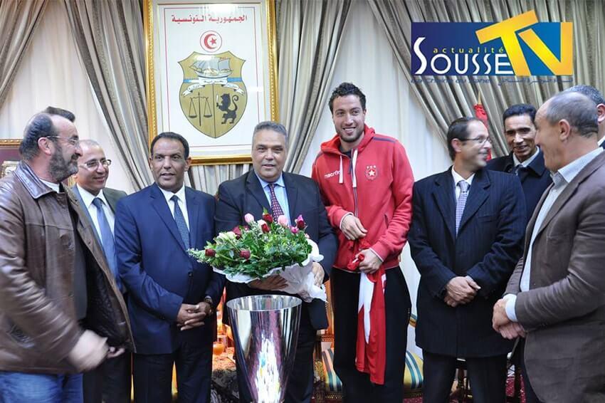 16 mars 2016 : Le gouverneur de Sousse honore l'équipe de volley-ball de l'Etoile