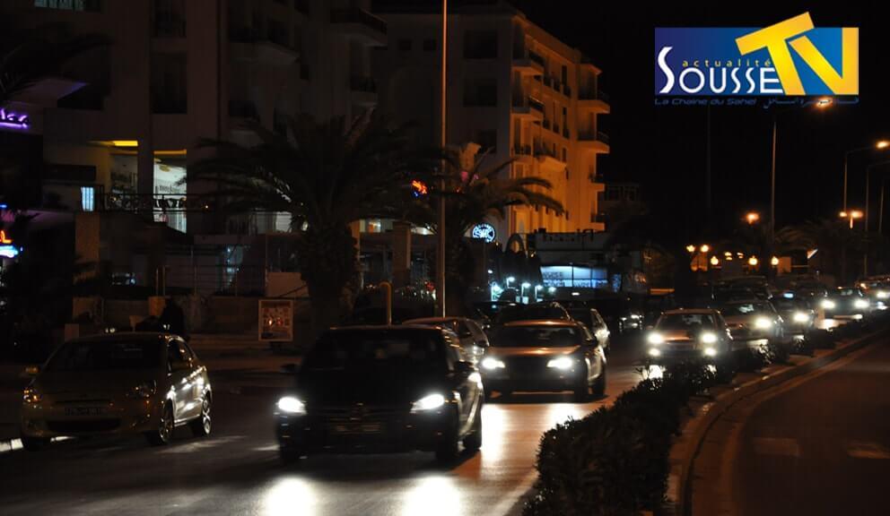 الطريق السياحي بالخزامة ليلا 1