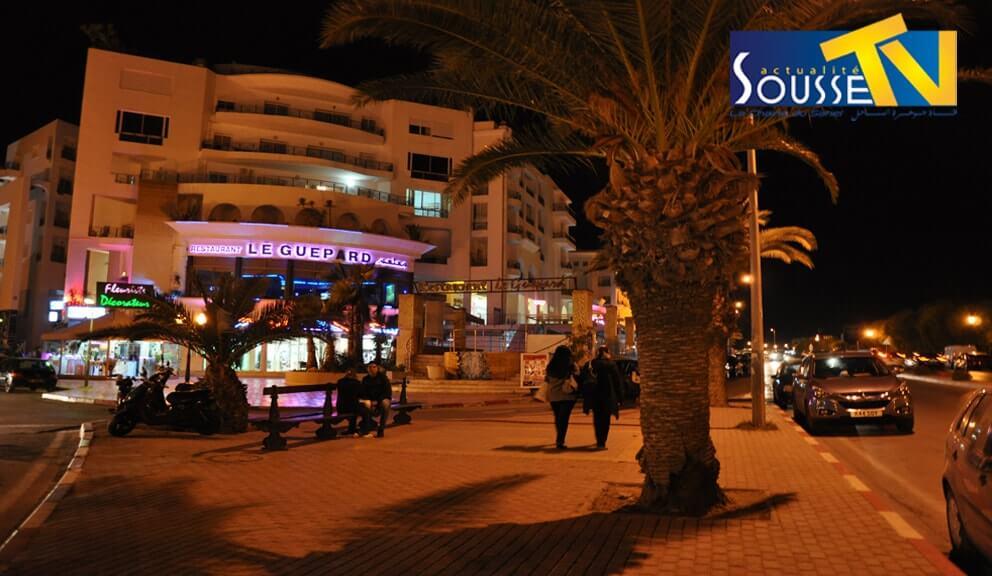 الطريق السياحي بالخزامة ليلا 2