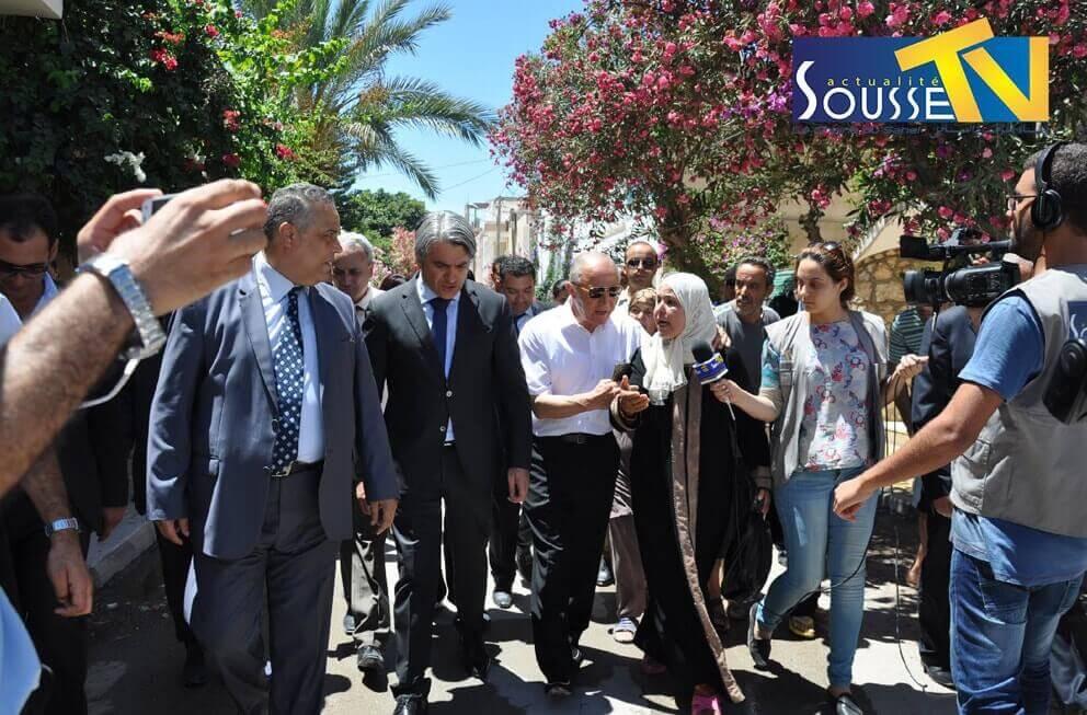 21 جويلية 2016 : زيارة وزير البيئة و التنمية المستدامة الى سوسة