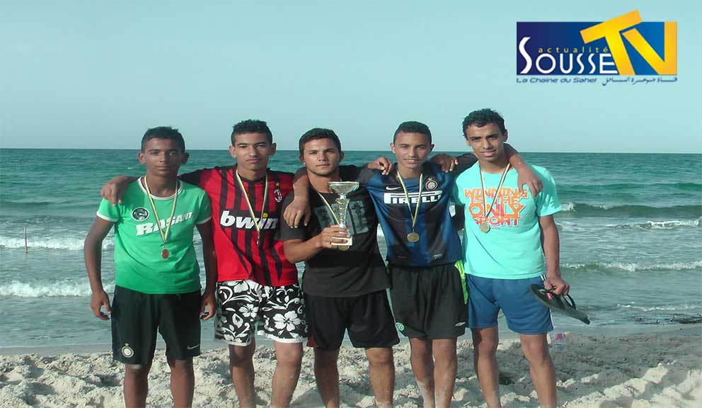 04 Juin 2016: Le Couronnement des vainqueurs de la plage olympique organisée par le composé de la jeunesse de Hergla