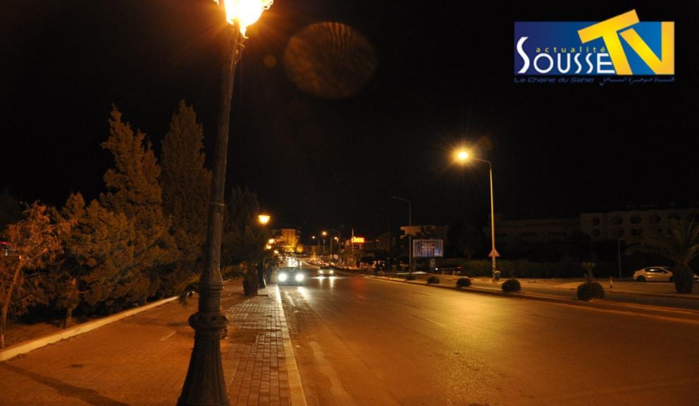 الطريق السياحي بالخزامة ليلا 3