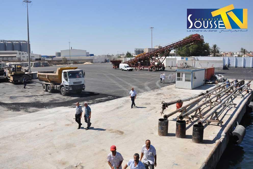 29 juillet 2016 : La visite de Gouverneur de Sousse M Fathi Bdira  au port commercial de sousse
