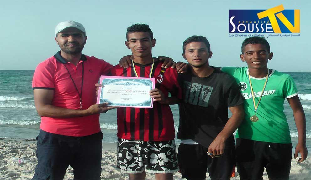 04  جوان 2016 : تتويج الفائزين في الأولمبياد الشاطئية التي نظمها المركب الشبابي بهرقلة