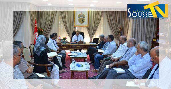   جلسة حول مشروع مضاعفة الطريق المحلية الرابطة بين شط مريم وهرقلة
